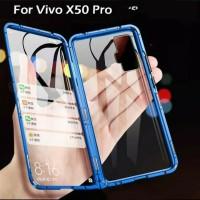 Double Glass case Magnet VIVO X50 PRO Magnetic Front+Back x50 pro