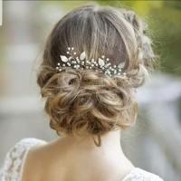 Hiasan Tusuk Sanggul Hair pin Aksesoris Sanggul Pesta Pengantin H38 thumbnail