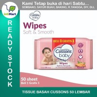 TISSUE BASAH CUSSONS BABY WIPES 50's SOFT & SMOOTH