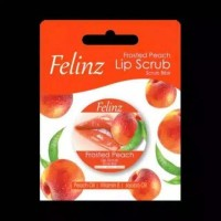 Felinz Fruited Peach Lip Scrub 5G Felinz Lip Scrub Lip Care thumbnail