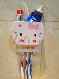Tempat sikat gigi hello kitty multifungsi toothbrush holder