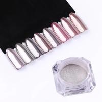 ready mirror powder nail art
