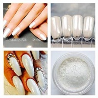 Pearl mermaid powder chrome nail art mirror powder nails