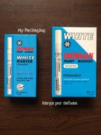 Spidol SNOWMAN Permanent Putih / Spidol Putih
