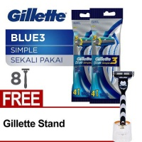 [Free Gillette Standee] Gillette Blue Simple 3 (Isi 4x2)