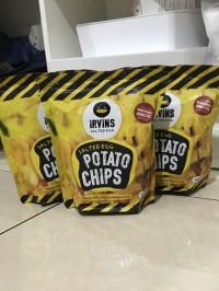 IRVINS Salted Egg Potato Chips 105 Gram (Original Singapore)