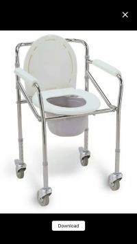 Kursi BAB / Commode Chair pakai Roda merk Sella KY696