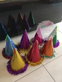 Topi Ulang Tahun Pesta Birthday Warna Cerah