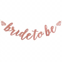 Bridal Shower Flag Banner Bride To Be Rosegold