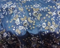 Navy golden Rose Lace
