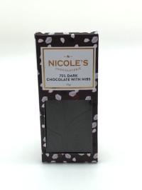 Dark Chocolate With Nibs Bar (32g)