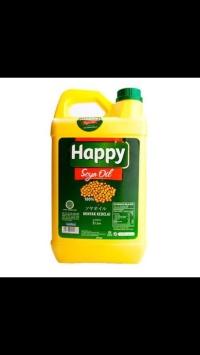 Happy Soya Oil 100% minyak goreng kedelai 5 liter