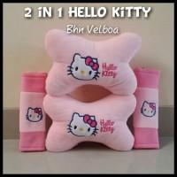 Bantal mobil / car seat / bantal leher 1 set hello kitty pink