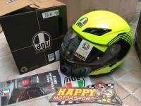 Helm AGV modular vermont yellow black glossy dual visor Italy M L XL