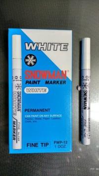 SPIDOL SNOWMAN PERMANENT WARNA WHITE ( PUTIH )