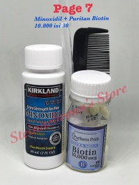 PaGe 7: Kirkland Minoxidil + Puritan Biotin 10000mcg isi 30 Softgels