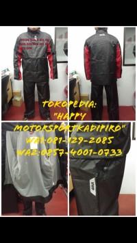 Jas hujan Baju celana GIVI ori Italy RRS06 M L XL 2XL 3XL black red