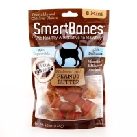 Smartbones peanut butter mini 8pc/snack anjing/snack tulang/snack dent