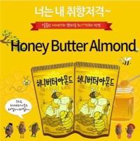 Honey Butter Almond 250gram Product of Korea