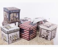 Storage Box Organiser Stool Kursi Tempat Penyimpanan Mainan Majalah