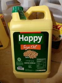Minyak kedelai happy soya oil 5 Liter