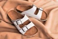 Sandal Birkenstock Wanita Gesper 2 Arizona Putih