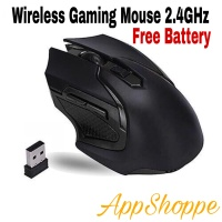 Mouse Wireless GAMING MOUSE MIRIP REXUS AVIATOR USB 2.4GHz ALL BLACK