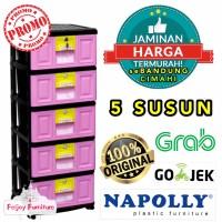 LEMARI PLASTIK 5 SUSUN NAPOLLY NAPOLY STB500 RAK PLASTIK SERBAGUNA