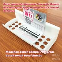 Daiso Japan Multipurpose Tray With Magnet Rak Serbaguna Magnet Kulkas
