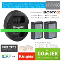 Baterai KINGMA Sony NP-FW50 2pc Dual Charger A6000 A5000 like wasabi