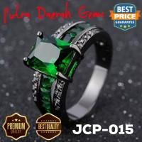 Cincin Pria Green Emerald Zircon Black Gold JCP-015