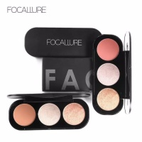 Focallure blush highlighter palette trio