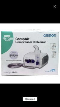 Nebulizer Omron NE-C28 / Alat uap pernafasan / alat inhalasi