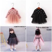 Polka Tutu Ball Gown Dress for Baby / Dres Bayi Pesta