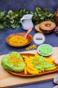 Mango sticky rice Pandan