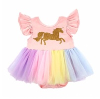 DRESS TUTU UNICORN BAYI BALITA ANAK PEREMPUAN IMPORT ROK TUTU BABY