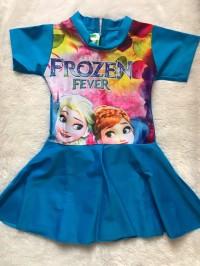 Baju Renang / Swimsuit Anak Perempuan (TK) motif Frozen