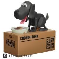 Celengan Unik Anjing Hitam Choken Bako
