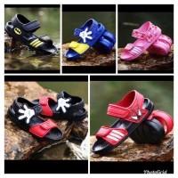 Sepatu sandal anak cewe cowo batman spiderman mickey (model adidas)