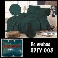 PROMO BEDCOVER SET + SPREI Full Katun Embossed King size 180X200X30