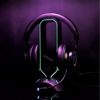 Stand Headset Rexus Bungee J3 with RGB Led Dudukan Headphone ging J 3