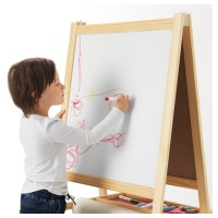 MALA Papan Tulis anak blackboard whiteboard 2 in 1 kayu ikea