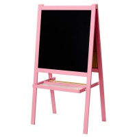 IKEA MALA Papan Tulis anak blackboard whiteboard 2 in 1 merah muda