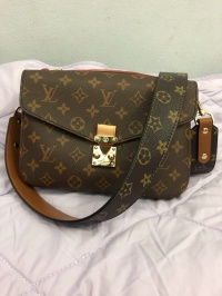 LV bag strap leather