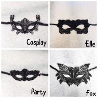Topeng Pesta Natal Halloween Semi Masquerade Party Lace Mask Setengah