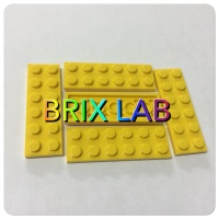 LEGO PART 3795 - Yellow Plate 2 x 6 - isi 10