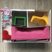 Mainan furnitur boneka barbie / blythe 1:8 | rumah mainan IKEA HUSET