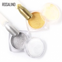 Rosalind mirror chrome powder nail art