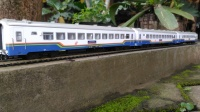 Miniatur Lokomotif Gerbong Kereta Api Bisnis K2 Purwojaya