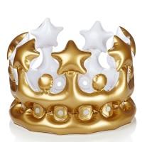 Mahkota Tiup Emas Mahkota Pesta Balon Golden Crown Balloon Birthday